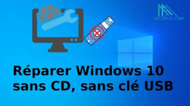 Réparer Windows 10 sans cd, sans clé USB, sans perte de données