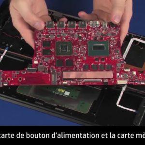 Démontage et remontage du haut-parleur droit pour les ordinateurs HP OMEN Notebook PC 15