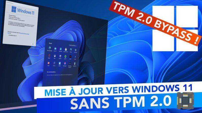 Mettre à jour vers Windows 11 sans puce TPM !