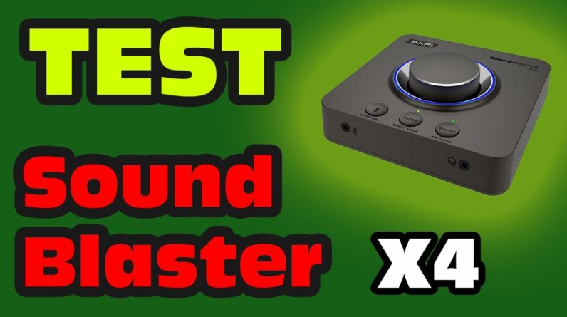 Test de la Sound Blaster X4
