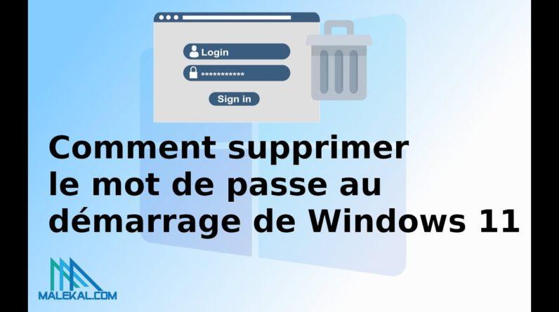 Supprimer le mot de passe de Windows 10, 11 pour ouvrir session automatiquement
